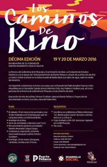 """caminata-kino Décima """"Los Caminos de Kino"""" 19 y 20 marzo"""