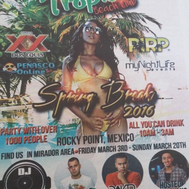 tropics-e1456955158257 #RPSB2016 WK 1  Rocky Point Weekend Rundown!