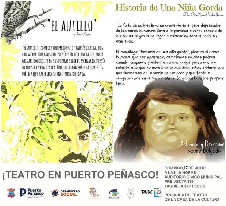 julio-teatro Teatro en Puerto Peñasco - 17 de julio