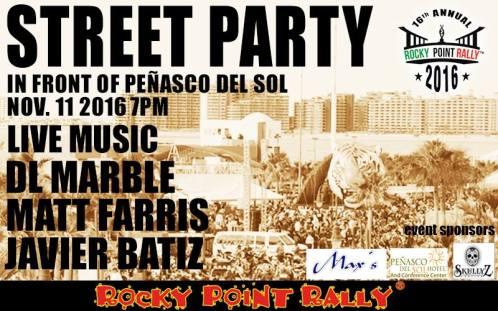 street-party 16th Rocky Point Rally - CALENDAR!