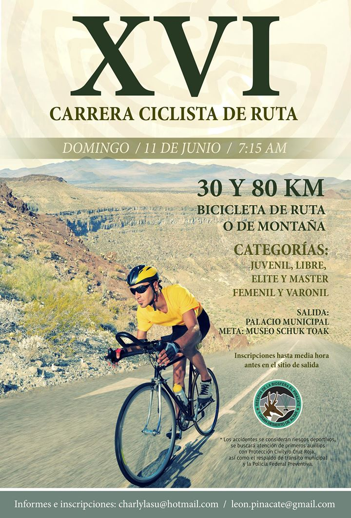 pinacate-ride-june-11 XVI Bike Race - Pinacate June 11th