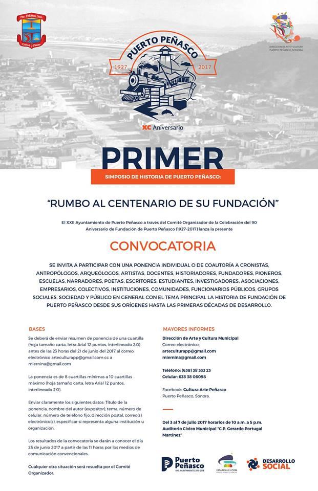conv-simposio-historia Invitan a participar al primer simposio de Historia de Puerto Peñasco