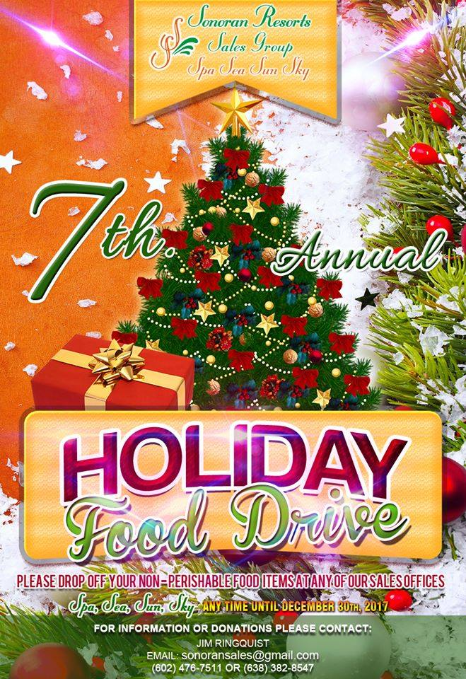 holiday-food-drive-sonoran Sonoran Resorts annual Holiday Food Drive!