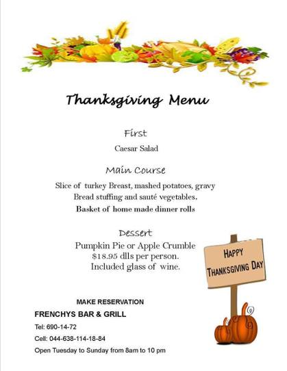 thanksgiving-frenchys 2017 Thanksgiving ideas!