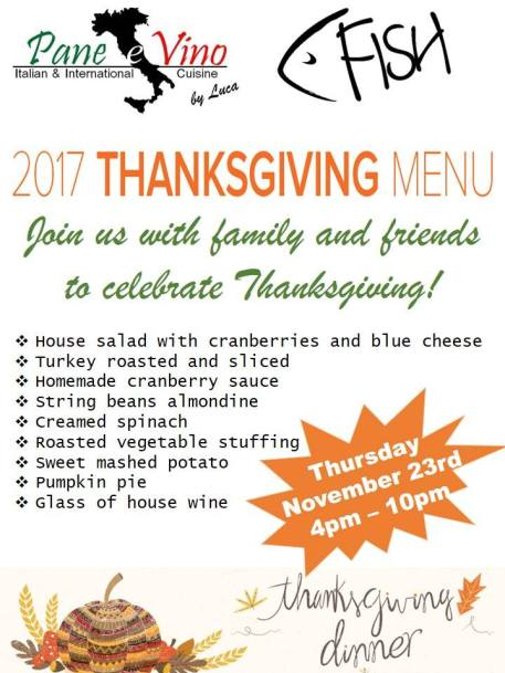 thanksgiving-panevino 2017 Thanksgiving ideas!