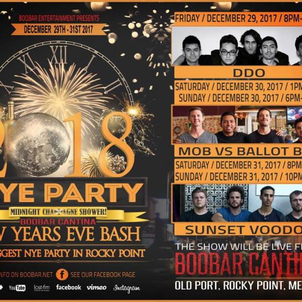 boobar-NYE Where to go for Christmas & New Year's in Rocky Point 2017