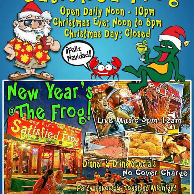 christmas-satisfied-frog Where to go for Christmas & New Year's in Rocky Point 2017