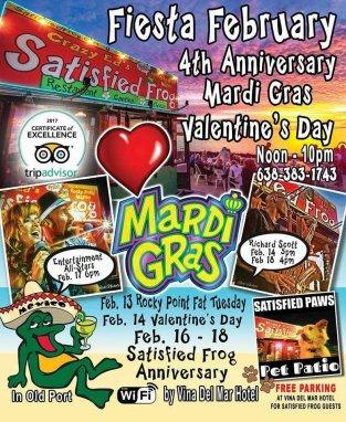 satisfied-frog-mardi-gras Shell we?  Rocky Point Weekend Rundown!