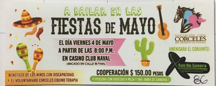 equinoterapia Fiestas de Mayo  May 4th - Equine Therapy Fundraiser