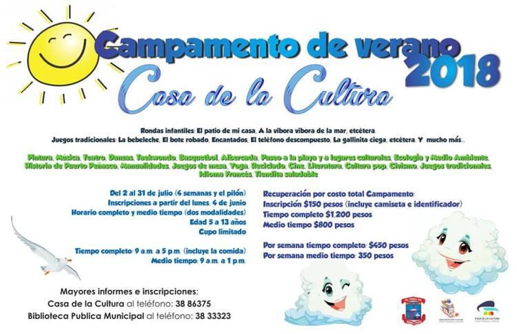 Cultura-Verano ¡Campamentos de verano 2018 en Puerto Peñasco!