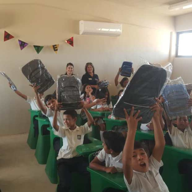 11 Peñasco Rotary Club delivers school supplies to local middle school