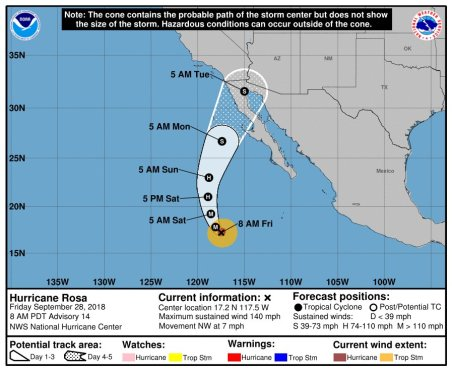 rosa-3 Hurricane watch in Puerto Peñasco