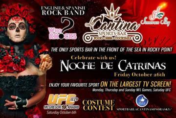 catrinas-la-cantina Halloween Fiestas in Rocky Point!