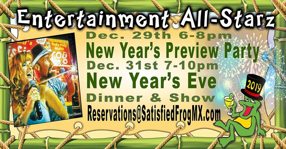 Entertainment All Stars – New Year's Preview @ Satisfied Frog in the Old Port