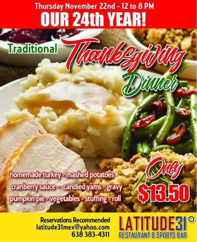 thaksgiving-Latitude-31 Thanksgiving options in Puerto Peñasco