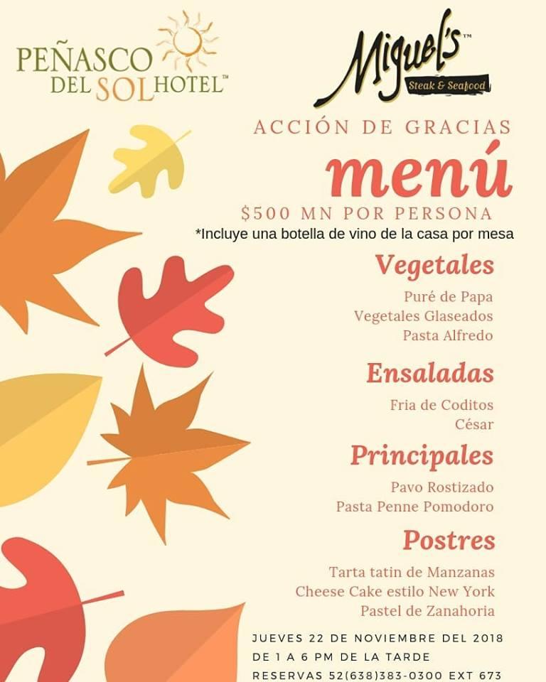 thanksgiving-peñasco-del-sol Thanksgiving options in Puerto Peñasco