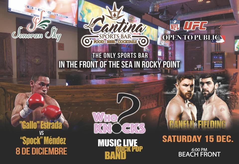 """8dec-la-cantina-gallo-box Juan Francisco """"El Gallo"""" Estrada to enter ring again Dec. 8th!"""