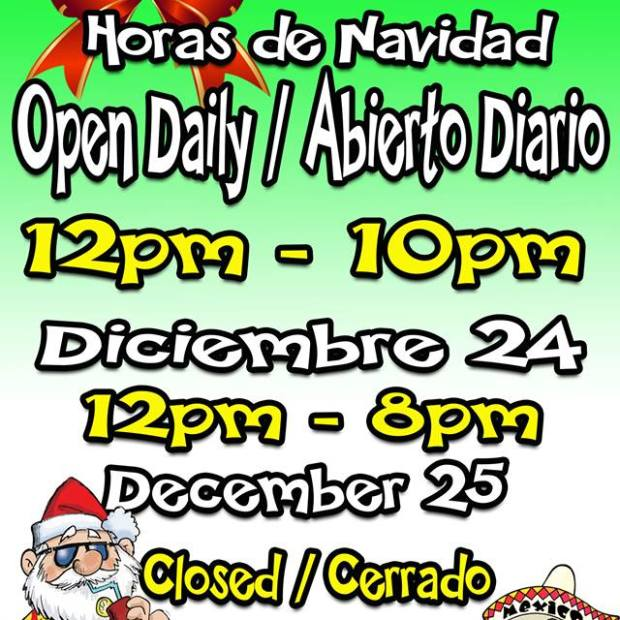 navidad-satisfied-frog Dining out in Puerto Peñasco over Christmas?