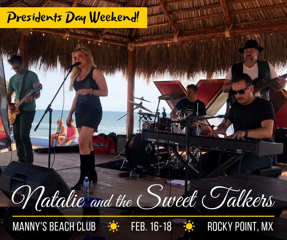 Natalie & the Sweet Talkers @ Manny's Beach Club in the Mirador