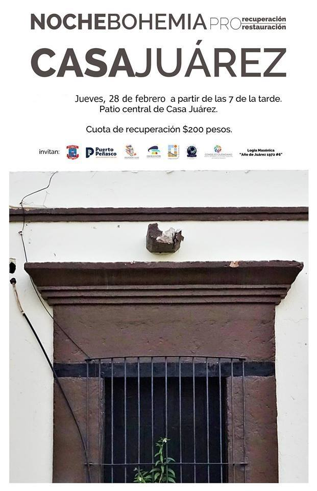 casa-juarez-feb-28 Noche Bohemia 28 feb * Casa Juarez