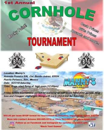Mannys-Cornhole-Tourney-19 Derby, Music, Art & Golf! Rocky Point Weekend Rundown!