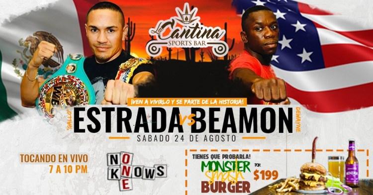 Estrada-vs-Beamon-at-La-Cantina-19 Gallito Estrada vs Dewayne Beamon at La Cantina Sports Bar
