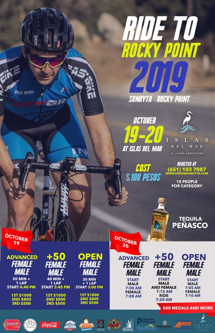 Flyer-carrera-ing-776x1200 Islas del Mar to host Ride to Rocky Point 2019.  Oct 19-20