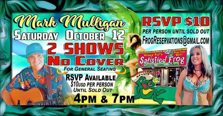 Mulligan-at-The-Frog-Oct-19 Color the town! Rocky Point Weekend Rundown!