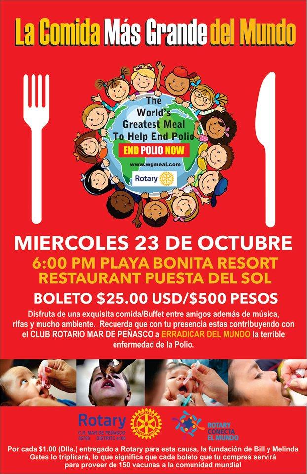 cena-polio-oct-2019 La Comida mas Grande del Mundo