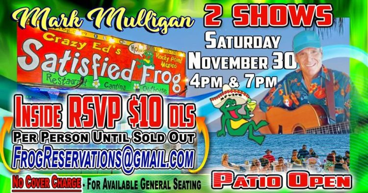 The-Satisfied-Frog-Mulligan-Thanksgiving-19 Gobble Gobble! Rocky Point Weekend Rundown!