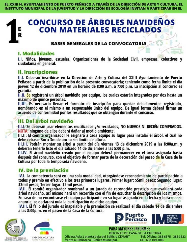 arbol-concurso-reciclado-2019 Concurso de árboles navideños con materiales reciclados 2019