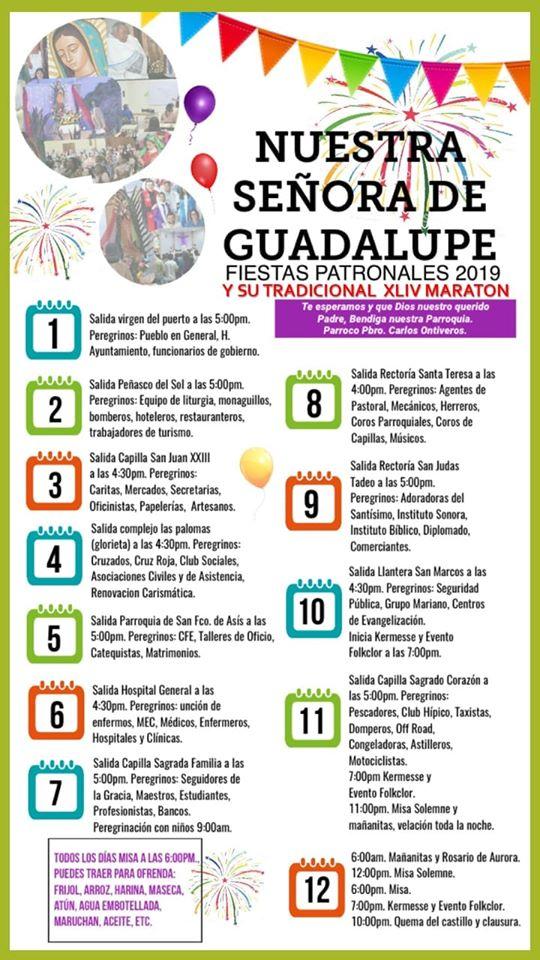 guadalupe-dic-2019 Processions leading up to Día de la Virgen de Guadalupe