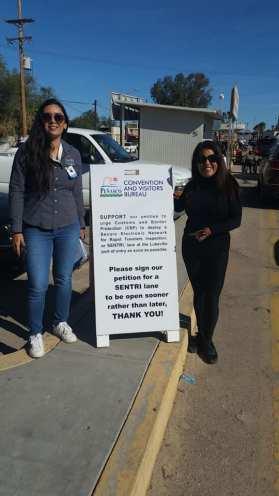 liz-maru-ocv-frontera Campaign seeks signatures to encourage SENTRI lane at Lukeville-Sonoyta crossing
