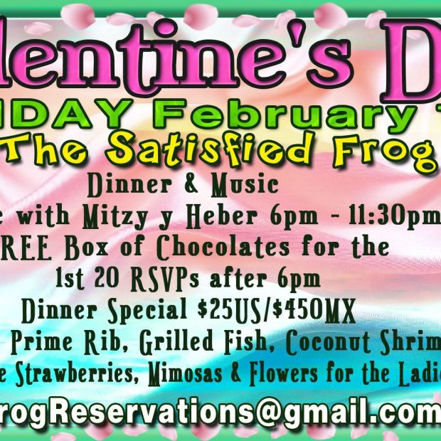 Satisfied-Frog-Valentines-Day-20 Whatcha got? AMOR! Rocky Point Weekend Rundown!