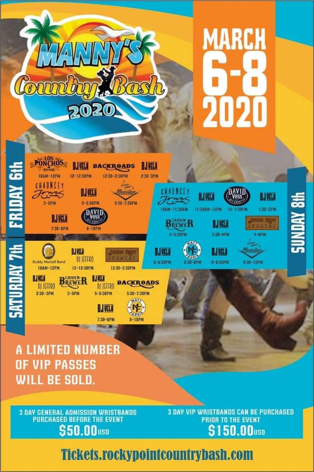 mannys-country-bash-2020 Whatcha got? AMOR! Rocky Point Weekend Rundown!