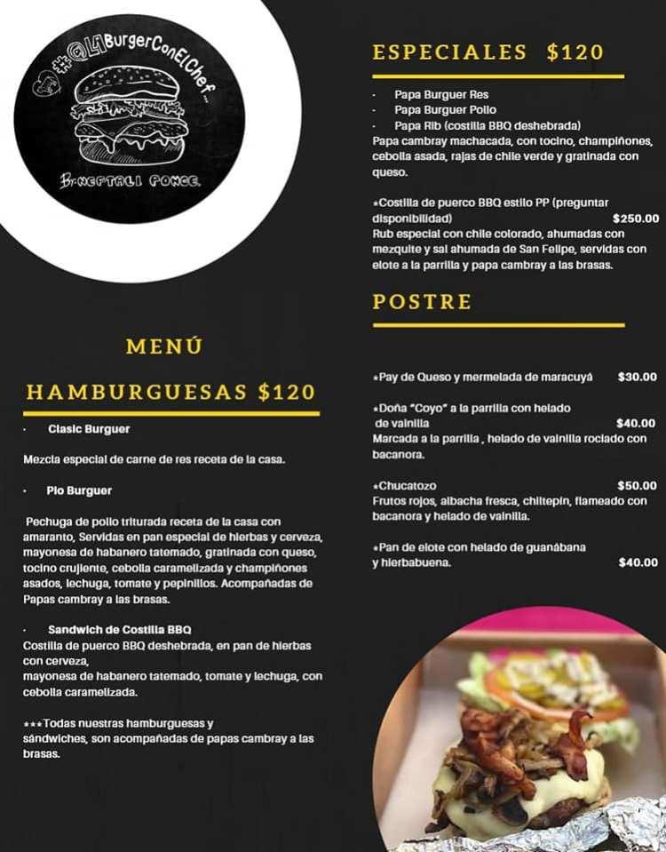 alaburguerconelchef-menu #ConsumeLocal #supportlocalbusiness