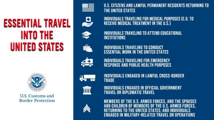 essential-travel-to-US-english Travel limits at US Border extended again