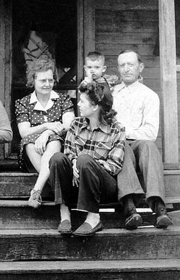 Aunt Mattie, Mom, me, and Uncle Tom.