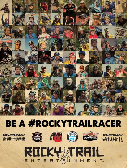 Be a #rockytrailracer - print ad placed in AMB Magazine, Feb/Mar 2015.