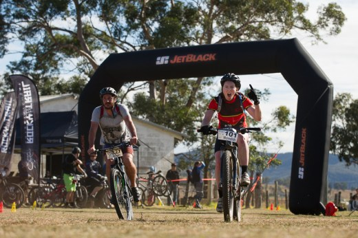 Women's outright winner in 2014, Meredith Quinlan celebrates a great lap time at James Estate. Photo: OuterImage.com.au