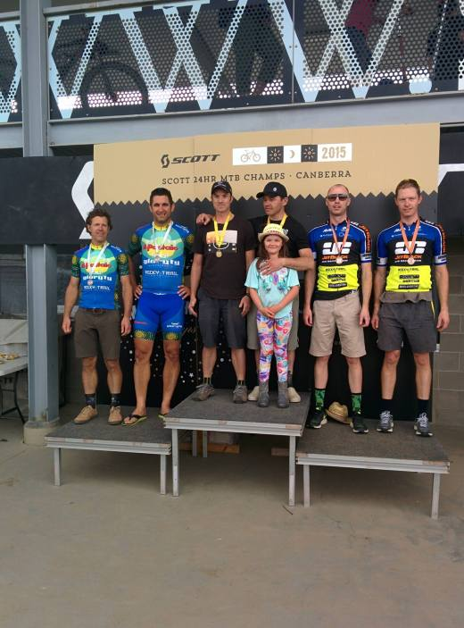 Podium photo at the Scott24/6+6H. Photo: Rocky Trail