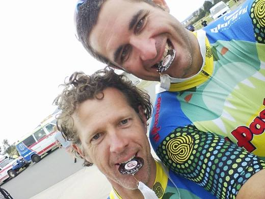 Clayton Locke and Martin Wisata happy with their placing. Photo: Rocky Trail