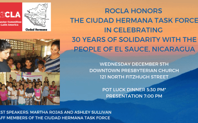 Join us for a joint ROCLA/CIUDAD HERMANA Celebration!