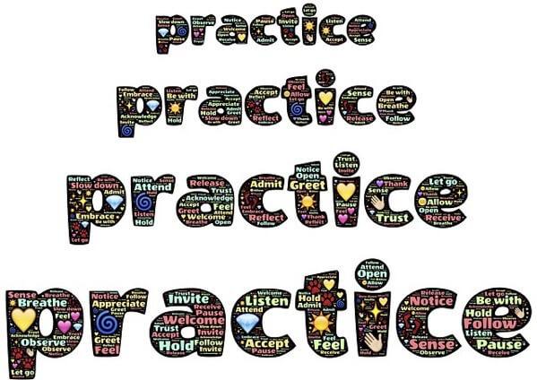 実践という英語の文字