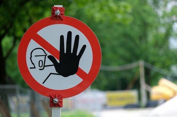 注意せよという標識