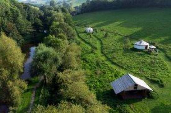yurts from above. Torbay