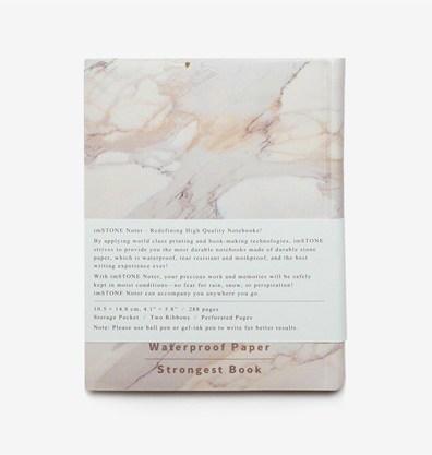 Carnet multifonction, blanc A6 effet marbre (carnet en anglais)