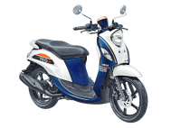 New Fino 125 Blue Core Sporty Jump White ban lebar dan tubeless