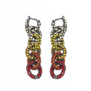 Earring Chain for Love Yellow Red SCH 470-1