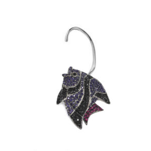 Earring Fish Love Violet SCH 452-1-left